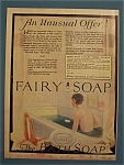 1925 Fairy Soap with a Woman Taking a Bath