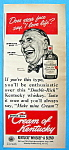 Click here to enlarge image and see more about item 10273: Vintage Ad: 1949 Cream Of Kentucky By Norman Rockwell