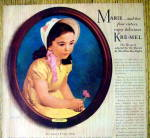 Click to view larger image of Vintage Ad: 1941 Kre-Mel Dessert with Marie (Image2)