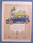 Click here to enlarge image and see more about item 10283: Vintage Ad: 1927  REO Motor Car Company