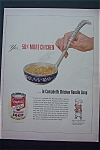 1943 Campbell's Soup with Ladle of Chicken Noodle Soup