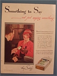 1933 Chesterfield Cigarettes w/Woman & Cigarette Pack