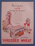 Click here to enlarge image and see more about item 10334: Vintage Ad: 1931 Shredded Wheat