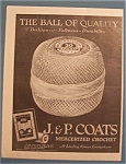 Click here to enlarge image and see more about item 10336: 1922  J & P Coats Mercerized Crochet