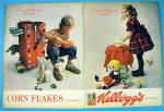 Click to view larger image of 1964 Kellogg's Corn Flakes Cereal with Boy & Girl (Image1)
