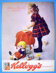 Click to view larger image of 1964 Kellogg's Corn Flakes Cereal with Boy & Girl (Image3)
