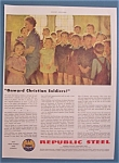 Click here to enlarge image and see more about item 10388: Vintage Ad: 1943 Republic Steel