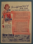 Click here to enlarge image and see more about item 10391: Vintage Ad: 1943 New Idea Farm Machines