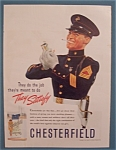 1939 Chesterfield Cigarettes w/Soldier & Cigarette