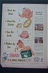 1943 Swan Floating Soap with 4 Swell Soaps In One