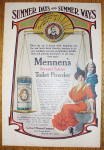 1907 Mennen's Borated Talcum Toilet Powder w/Woman