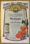 Click to view larger image of 1907 Mennen's Borated Talcum Toilet Powder w/Woman (Image3)