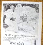 Click to view larger image of 1914 Welch's Grape Juice with Women On A Picnic (Image4)