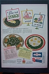 1943 Birds Eye Frosted Foods w/Salad & Luncheon Platter