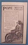 Click here to enlarge image and see more about item 10553: Vintage Ad: 1913  Pope  Motorcycles