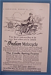 Click here to enlarge image and see more about item 10555: Vintage Ad: 1913 Indian Motorcycle