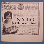 Click here to enlarge image and see more about item 10562: Vintage Ad: 1914  Nylo  Chocolates