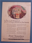 Vintage Ad: 1922 Post Toasties with Alice In Wonderland