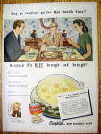 Click to view larger image of 1947 Campbell's Beef Noodle Soup w/Family Having Dinner (Image1)