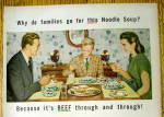 Click to view larger image of 1947 Campbell's Beef Noodle Soup w/Family Having Dinner (Image2)