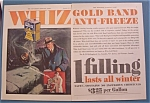 Vintage Ad: 1929 Whiz Gold Band Anti - Freeze