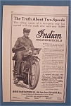 1914 Indian Motorcycle with Man on the Motorcycle