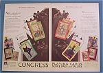 1930 Congress Playing Cards with Designs of Cards