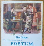 Click to view larger image of 1913 Postum Cereal with Family Around The Table (Image2)