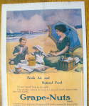 Click to view larger image of 1913 Grape-Nuts Cereal with Woman & Child On Picnic (Image3)