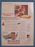 1925 Beech-Nut Peanut Butter with Boy Eating Sandwich