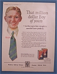 Click here to enlarge image and see more about item 10705: Vintage Ad: 1924 Quaker Puffed Wheat/Norman Rockwell