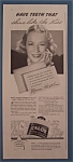 Vintage Ad: 1937 Calox Tooth Powder with Miriam Hopkins