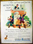 Click to view larger image of 1930 General Electric All-Steel Refrigerator with Boys (Image1)