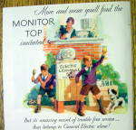 Click to view larger image of 1930 General Electric All-Steel Refrigerator with Boys (Image2)