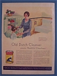 Vintage Ad: 1930  Old Dutch Cleanser