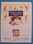 Click here to enlarge image and see more about item 10818: Vintage Ad: 1928 Post Toasties Corn Flakes