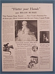 Vintage Ad: 1928 Cutex Liquid Polish w/Billie Burke