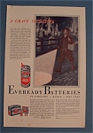 1933 Eveready Batteries with Boy Walking Past Graveyard