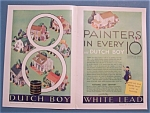 1930 Dutch Boy White Lead Paint with 8 Painters
