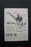 1944 Statler Hotels w/2 Men Talking & Riding on Giraffe