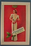 1938 Chesterfield  Cigarettes with Woman Holding Carton