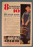 1931 Dutch Boy White Lead Paint w/Dutch Boy & Bucket