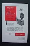 Click here to enlarge image and see more about item 1085: Vintage Ad: 1947 Bell  &  Howell  Magazine Proof