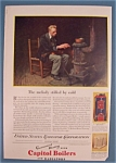 Click here to enlarge image and see more about item 10864: Vintage Ad: 1929 Capitol Boilers By Norman Rockwell