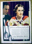 Click to view larger image of 1936 1847 Rogers Bros. Silverware with Lovely Woman (Image1)