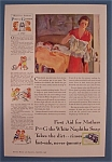 1932 P & G White Naptha Soap with Woman Folding Clothes
