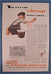 1932 Dutch Boy White Lead Paint w/Dutch Boy Painting