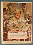 1943 Chesterfield Cigarettes with Soldier & Cigarette