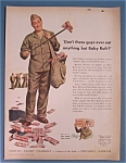 Vintage Ad: 1943 Curtiss Baby Ruth Candy Bar