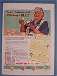 1939 Pillsbury's Best Flour with Woman Holding Biscuit